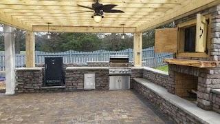 Pavestone Outdoor Kitchen 400 Sqft of 3 Stone Paver Patio Stone Veneer