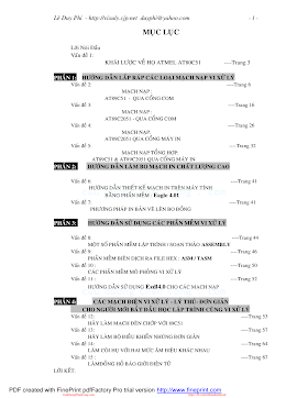 Hướng Dẫn Lắp Ráp Các Mạch Nạp Vi Xử Lý - Lê Duy Phi, 77 Trang.pdf