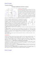 Cours sur le Montage amplificateur émetteur commun Electronique.pdf