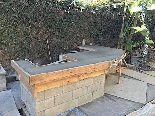 Concrete Outdoor Kitchen Los Angeles S Fireplaces Firepits