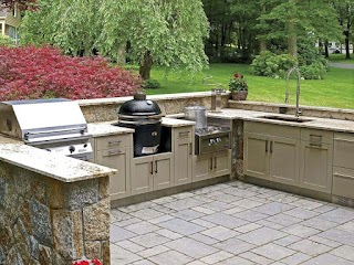 U Shaped Outdoor Kitchen Designs Beatifl Simple Otdoor Design Ideas For