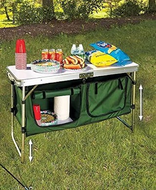 Camping Outdoor Kitchen Amazoncom Portable Table By Getset2save Sports