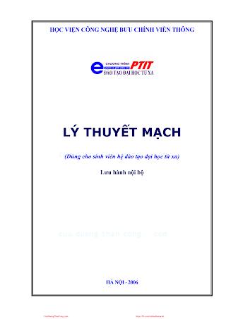 BCVT.Lý Thuyết Mạch - Ths. Nguyễn Quốc Dinh, 204 Trang.pdf