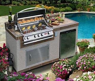 Outdoor Kitchen Burners Amazoncom Cal Flame 6 Island E6004 with 4burner