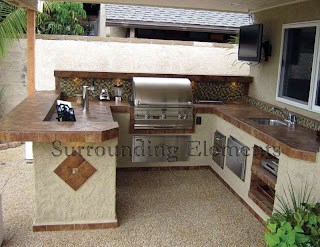 Outdoor Island Kitchen Barbecue S By Surrounding Elements Custom Barbecue