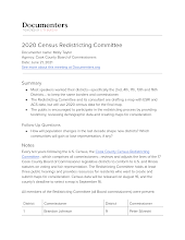 2020 Census Redistricting Committee