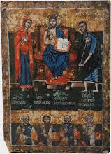 Icoana in doua registre, Deisis, sec al XVII-lea, Grecia