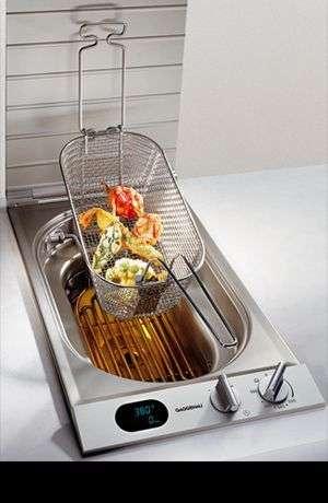 Outdoor Kitchen Deep Fryer Built in Counter Ideas Cool Gadgets
