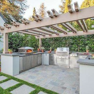 U Shaped Outdoor Kitchen Designs Otdoor Design Ideas