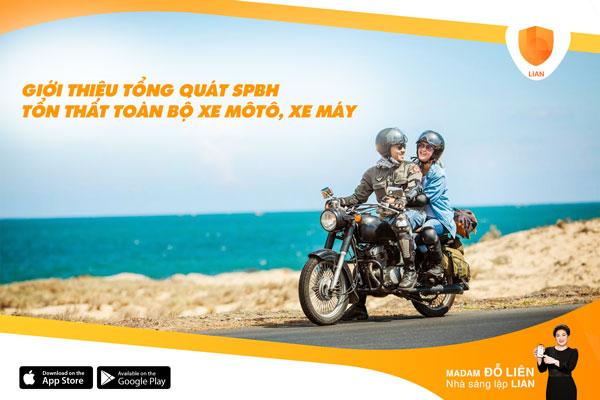 Giới thiệu tổng quát SPBH Tổn thất toàn bộ xe môtô, xe máy