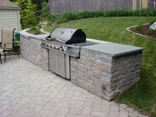 Free Standing Outdoor Kitchens Built in Grill Landscaping Kitchen Grill
