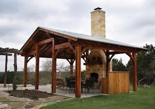 Timber Frame Outdoor Kitchen Cedar Texas S