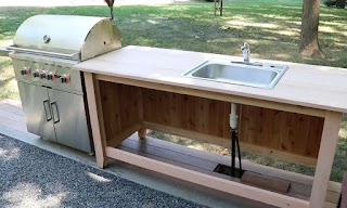 How to Build an Outdoor Kitchen Counter Cabinet P with Sink Jon Peters