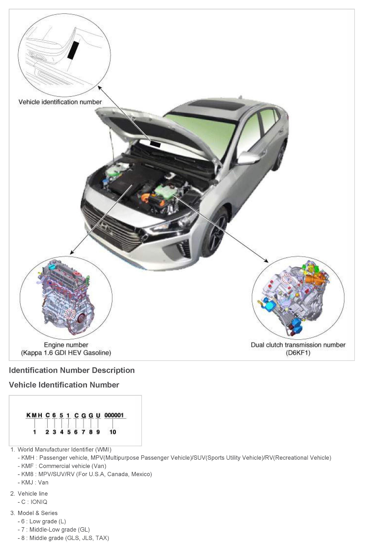 Download 2017 Hyundai Ioniq Hybrid Repair Service Manual