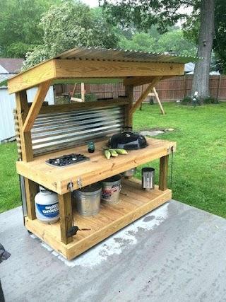 Simple Outdoor Kitchen Tsunaguplusallsite