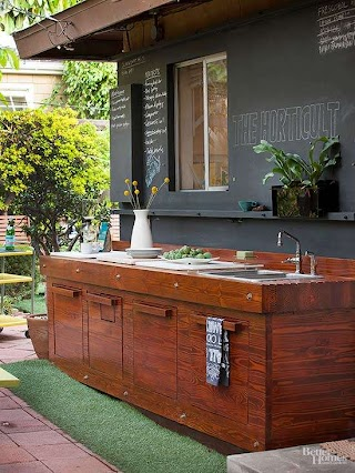 Inexpensive Outdoor Kitchen on a Budget Better Homes Gardens