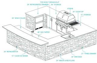 Building Plans Outdoor Kitchen Builder Builders
