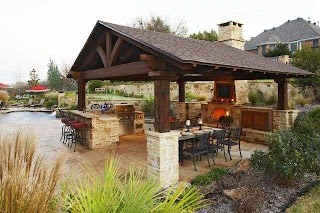 Outdoor Fireplace Kitchen Designs Featuring Pizza Ovens S and Other