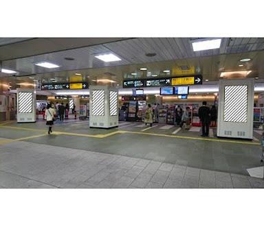 TOQサイネージピラー 目黒駅