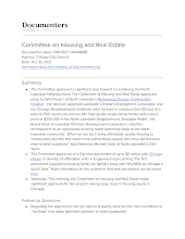 Committee on Housing and Real Estate