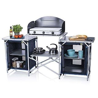 Outdoor Kitchen Camping Campart Travel Ki0732 Malaga with Windshield