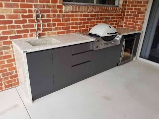 Outdoor Kitchen Benchtops Concrete Counter Benchtop Off White Exposed Etsy