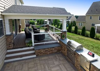 Outdoor Kitchen on a Deck S Bbq Islnds Chester Lncster County P