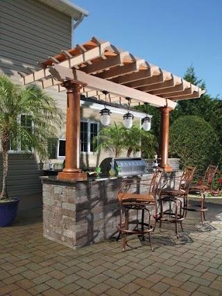 Outdoor Kitchen Designs with Pergolas Backyard Ideas Pergola 30 Gorgeous
