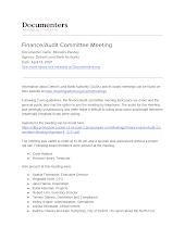 Finance/Audit Committee Meeting