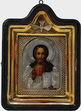 Icoana Iisus Hristos Pantocrator, sec al XIX-lea, Rusia