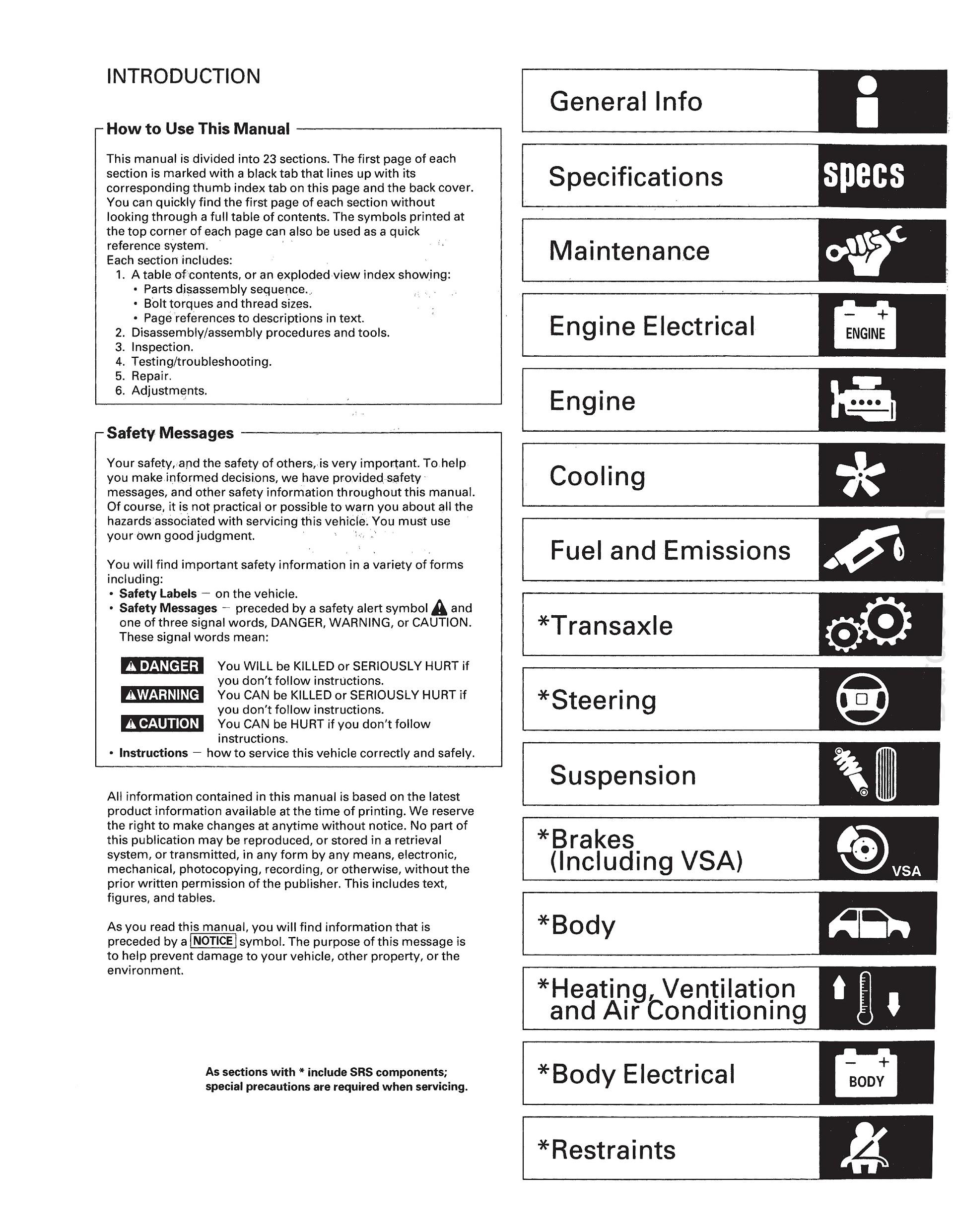 Free Download 2004-2006 Acura TL Repair Manual