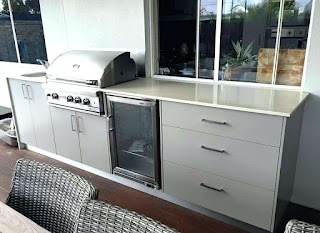 Outdoor Kitchen Storage Cart Build Cabinet How To
