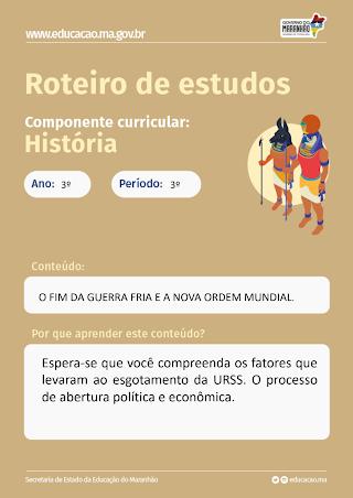 O FIM DA GUERRA FRIA E A NOVA ORDEM MUNDIAL