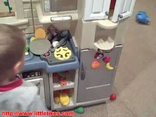 Little Tikes Indoor Outdoor Cook N Grill Kitchen Isideoutside Kitche Youtube