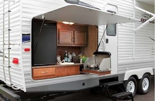 Travel Trailer with Outdoor Kitchen This Is Very Compact and Easily