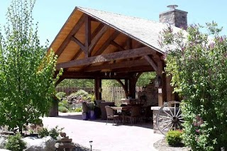 Timber Frame Outdoor Kitchen Designs with Roofs