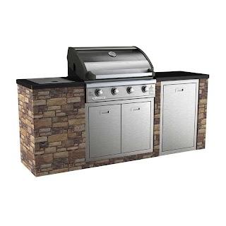 Bunnings Outdoor Bbq Kitchens Matador 4 Burner Stone Finish Kitchen From Smokin