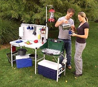 Coleman Outdoor Kitchen Amazoncom Camping Cookware Equipment Gear Hiking
