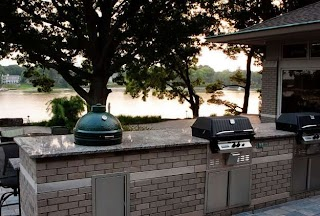 Outdoor Kitchen Charcoal Grill Pictures Gallery Landscaping Network