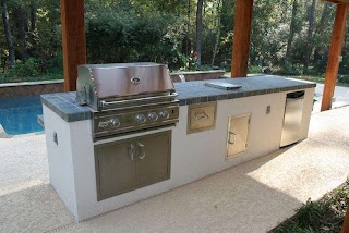 Stucco Outdoor Kitchen Incredible Summer with Granite Port Ownself
