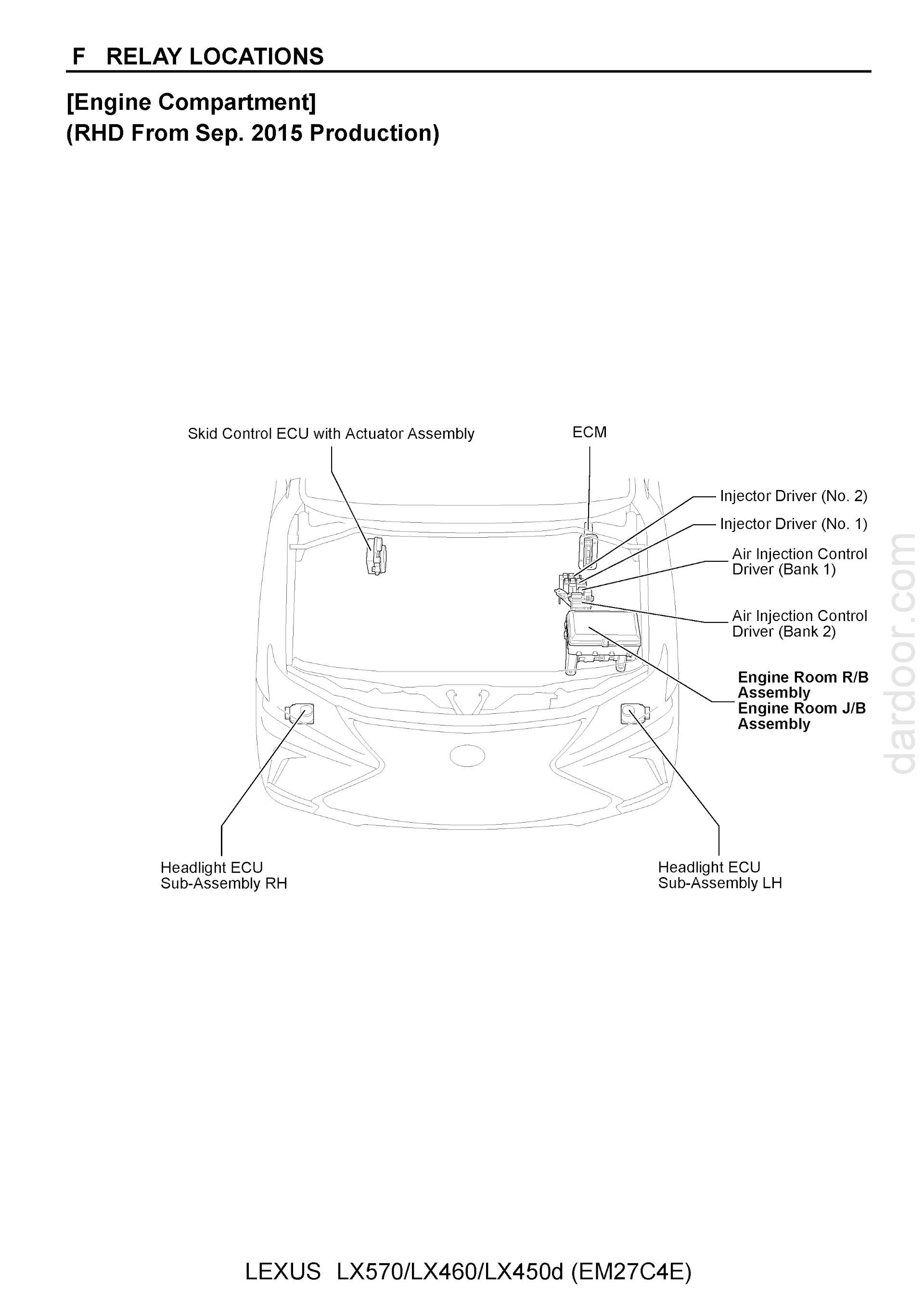Download 2014-2018 Lexus LX570 / LX460 Wiring Diagrams.