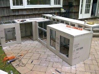 Prefab Outdoor Kitchen Frames Modular Kits Built in Grill Kits