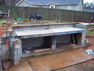 Cinder Block Outdoor Kitchen for Projects Build