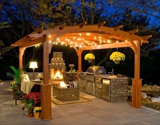Outdoor Kitchen Fireplace Ideas With600x471 Quinjucom