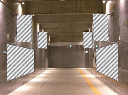 大阪駅ノースゲート東地下通路フラッグ&シート