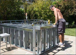 Building Outdoor Kitchen with Metal Studs How to Build an 15 Steps
