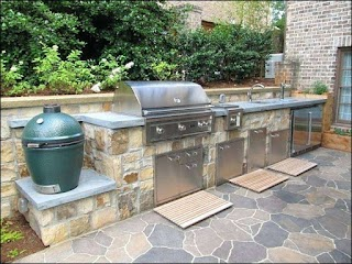 Green Egg Outdoor Kitchen Inspirational With
