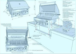 Standard Outdoor Kitchen Dimensions Stylish