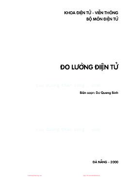 ĐHĐN.Đo Lường Điện Tử (NXB Đà Nẵng 2000) - Ths.Dư Quang Bình, 39 Trang.pdf