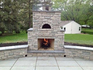 Outdoor Kitchen with Pizza Oven Plans Stone Fireplace New House Decorating
